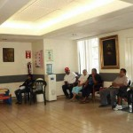 Waiting room at the San Eugenio Clinic