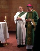Archbishop Garcia-Siller, M.Sp.S., Archbishop of San Antonio and Deacon Bob Kusenberger, HOMI