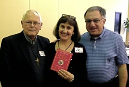 Alicia von Stamwitz and her new book on Pope Francis  alongside Father Ron Rolheiser, OMI and Father Tom Rosica, CSB.