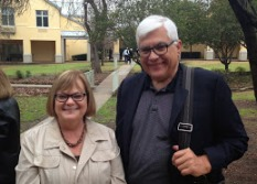 Partners Bob and Muriel Klosterman after Sunday morning Mass.